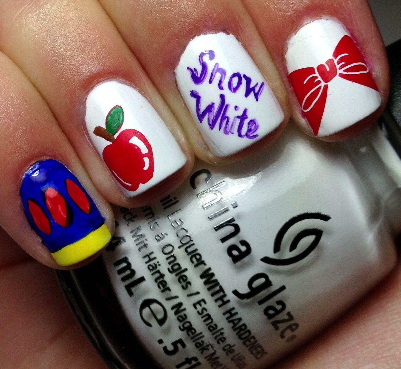 Snow White Nail Art | Disney Nails | Pinterest