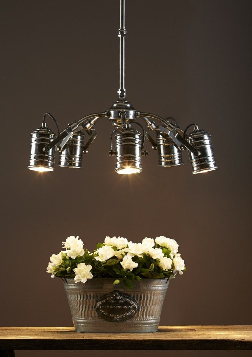 Axis Antique Silver Chandelier - Chic Chandeliers