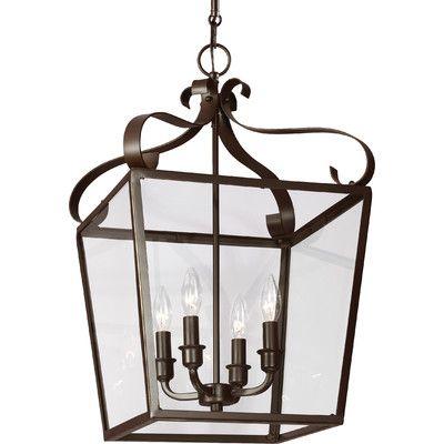 Sea Gull Lighting Lockheart 4 Light Foyer Lantern Pendant & Reviews…