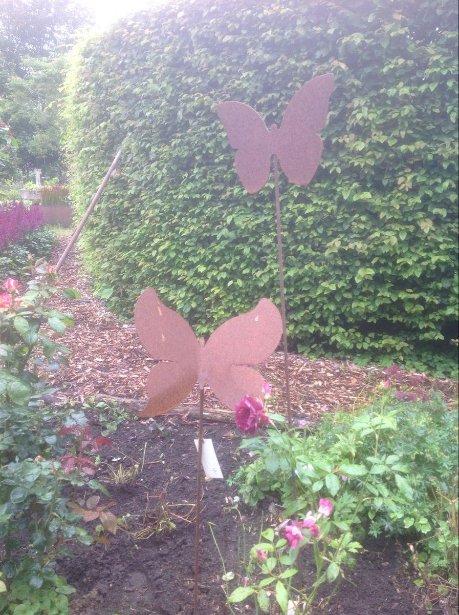 Ijzeren Vlinders Op Pin Decoraties Vlinders Tuin