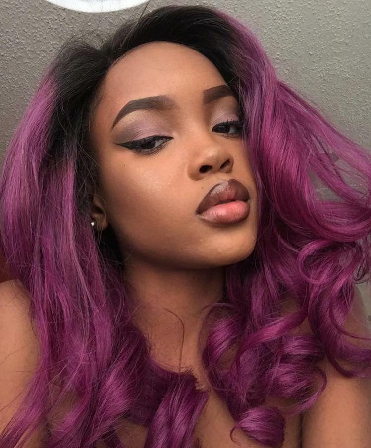 Purple Hair Weave Gods In 2018 Pinterest Hair Coloring