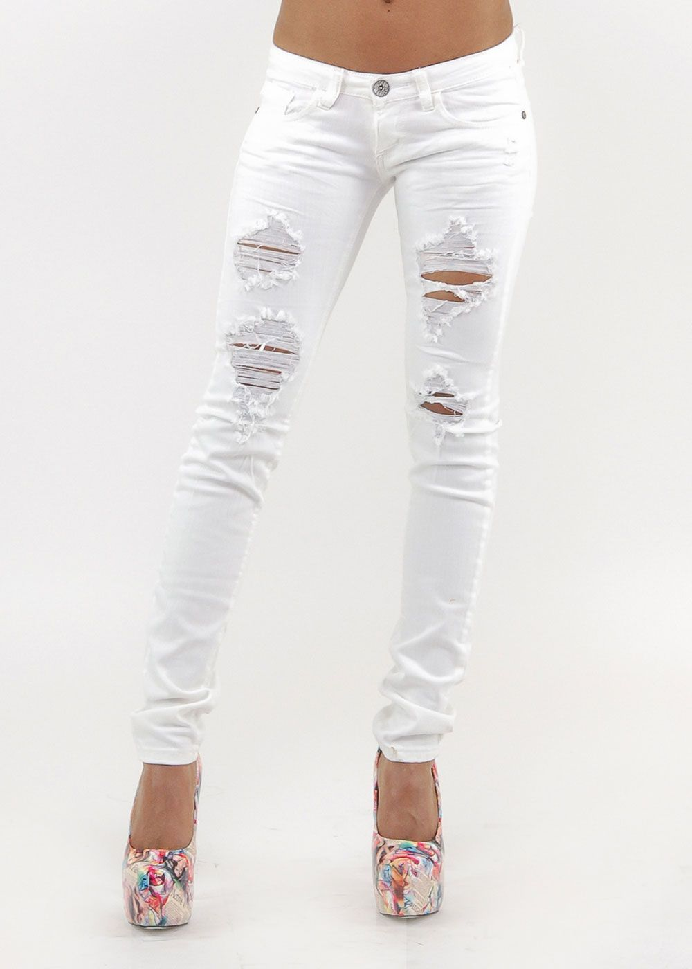 Ripped Jeans for Women | Fashion Women Ripped Lace Jeans - China ...