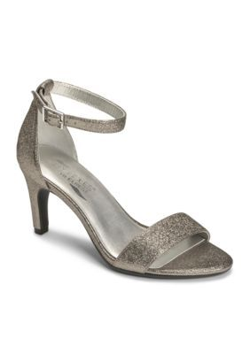 d33b766da286 Aerosoles Women s Laminate Dress Sandal - Silver Metallic - 7M