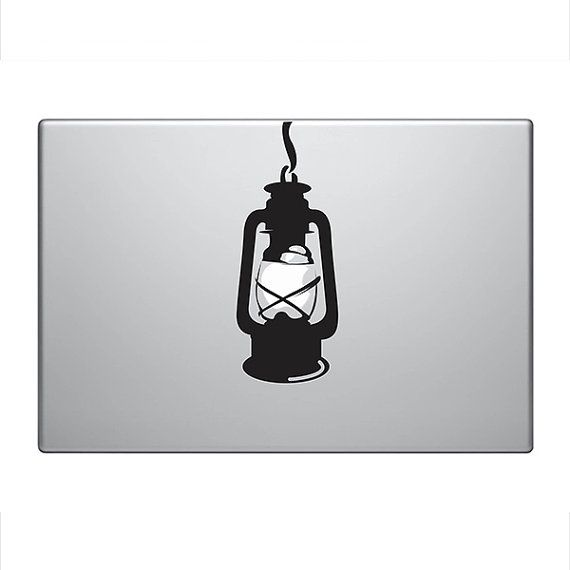 Hanging lantern vinyl decal sticker to fit macbook pro 13 15 17 custom sizes available fun precision die cut light bulb lamp
