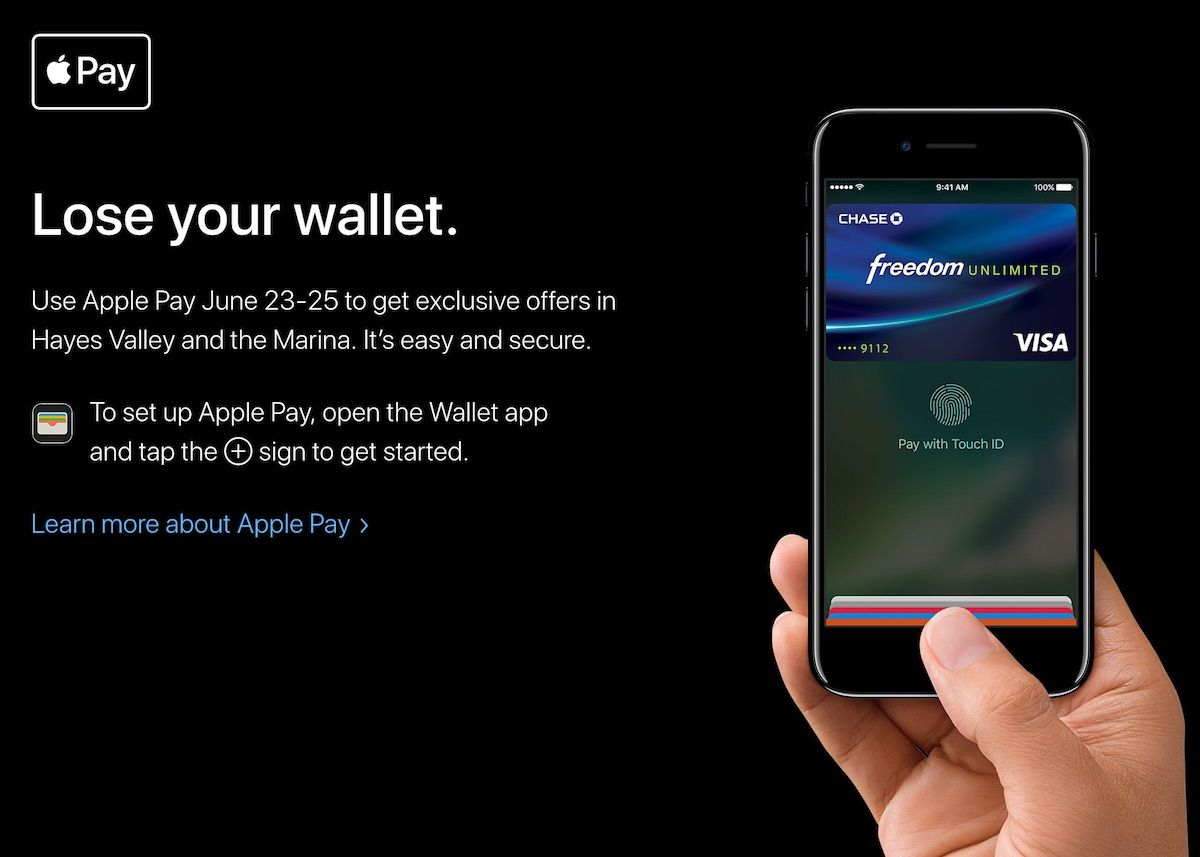 Apple Announces 'Lose Your Wallet' Apple Pay Shopping