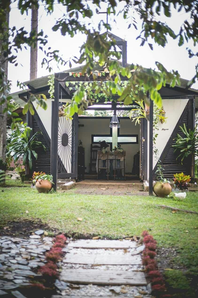 Capilla En Nuestra Finca Villa Rosita Armenia Quindio Garden Arch Outdoor Outdoor Structures