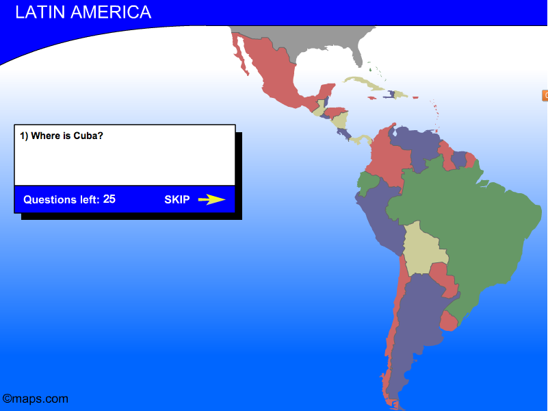 Find it! The Latin America map game | GEOGRAPHY GAMES ...