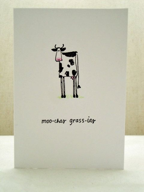 Cow Themed Thank You Cards, Muchos Gracias, Punny Thank You Cards