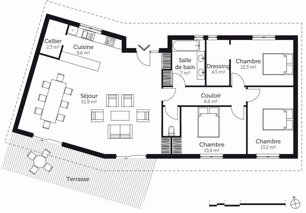 31 Plan Maison Moderne Plain Pied 160m2 Plan De La Maison Plan Maison 100m2 Maison Moderne Plain Pied Plan Maison