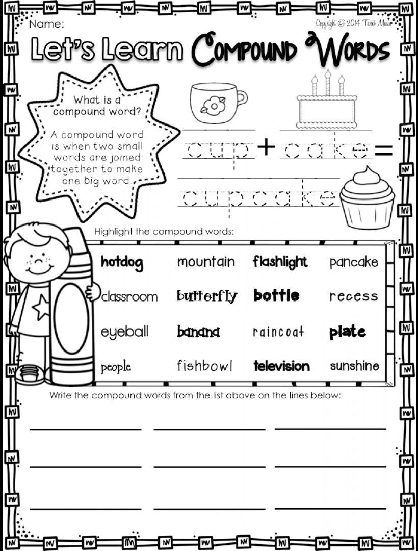 12 Compound Word Worksheet 1St Grade