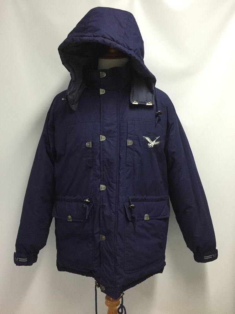 bb79c12ce03f TRIPLE FAT GOOSE TFG Mens Parka Jacket Coat Goose Down Heavy Blue Size XL   TripleFatGoose  Parka
