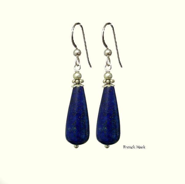 Lapis Lazuli Blue Teardrop Earrings, 925 Silver Dangle Earrings, Choose Style, Handmade, Natural Stones Earrings, Healing,Taurus,Sagittarius de ArtGemStones en Etsy