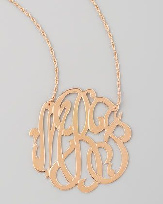 b2682006 Rose Gold Initial Necklace - Neiman Marcus: rose gold and initials...2 of  my obsessions rolled into one!