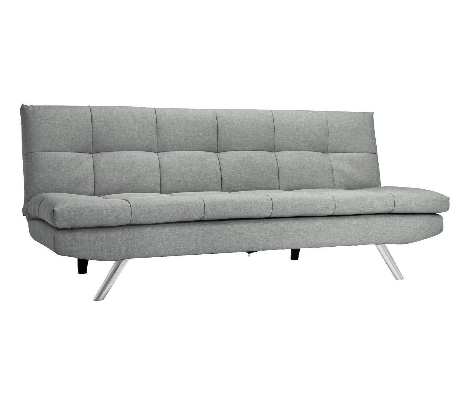 Buy Collection Nolan 3 Seater Fabric Sofa Bed - Light Grey at Argos ...