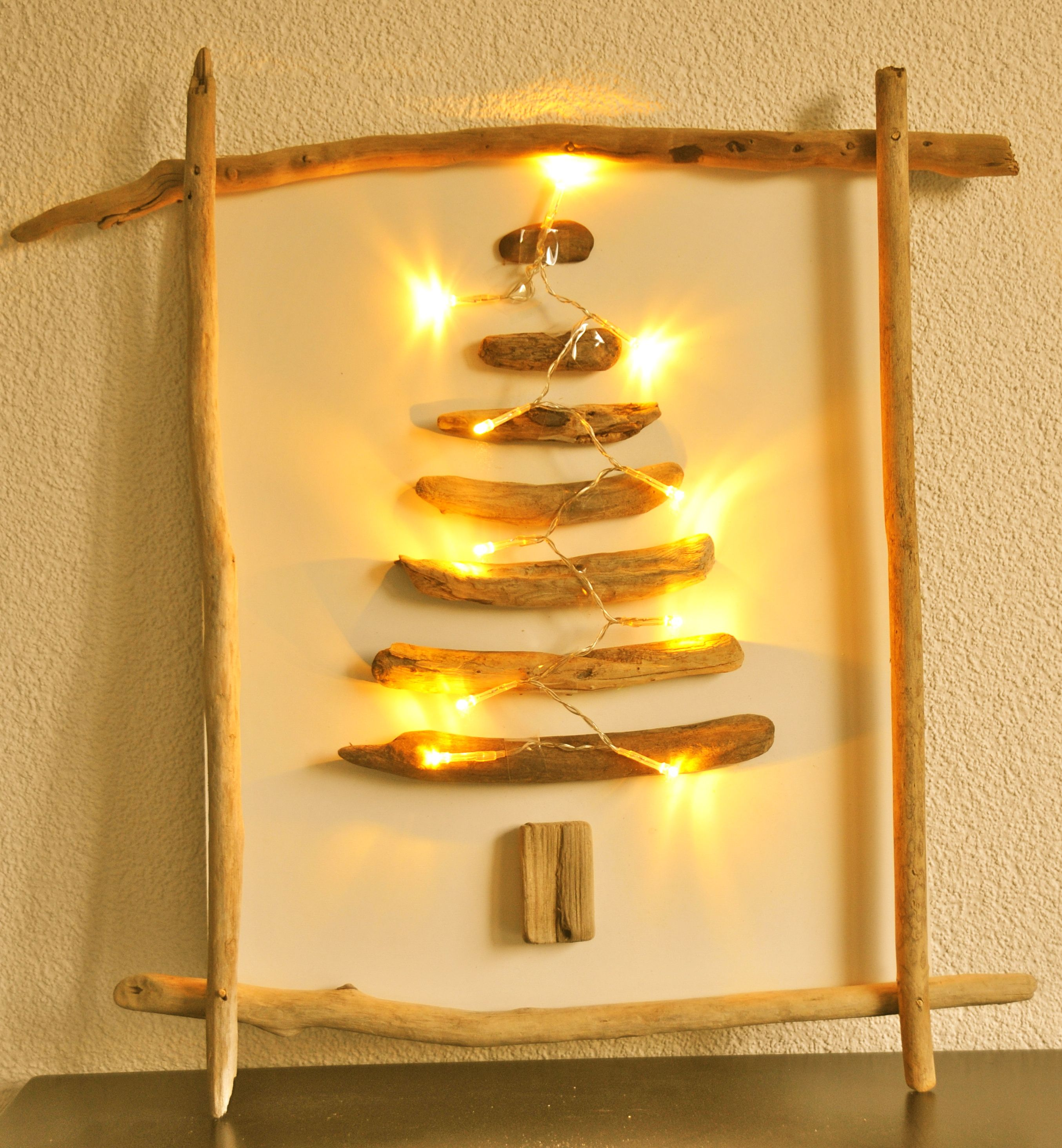 Driftwood Christmas Tree With Fairy Lights