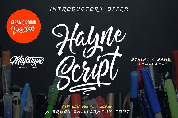 Hayne Script Clean Rough Script Fonts Download Lettering Typeface