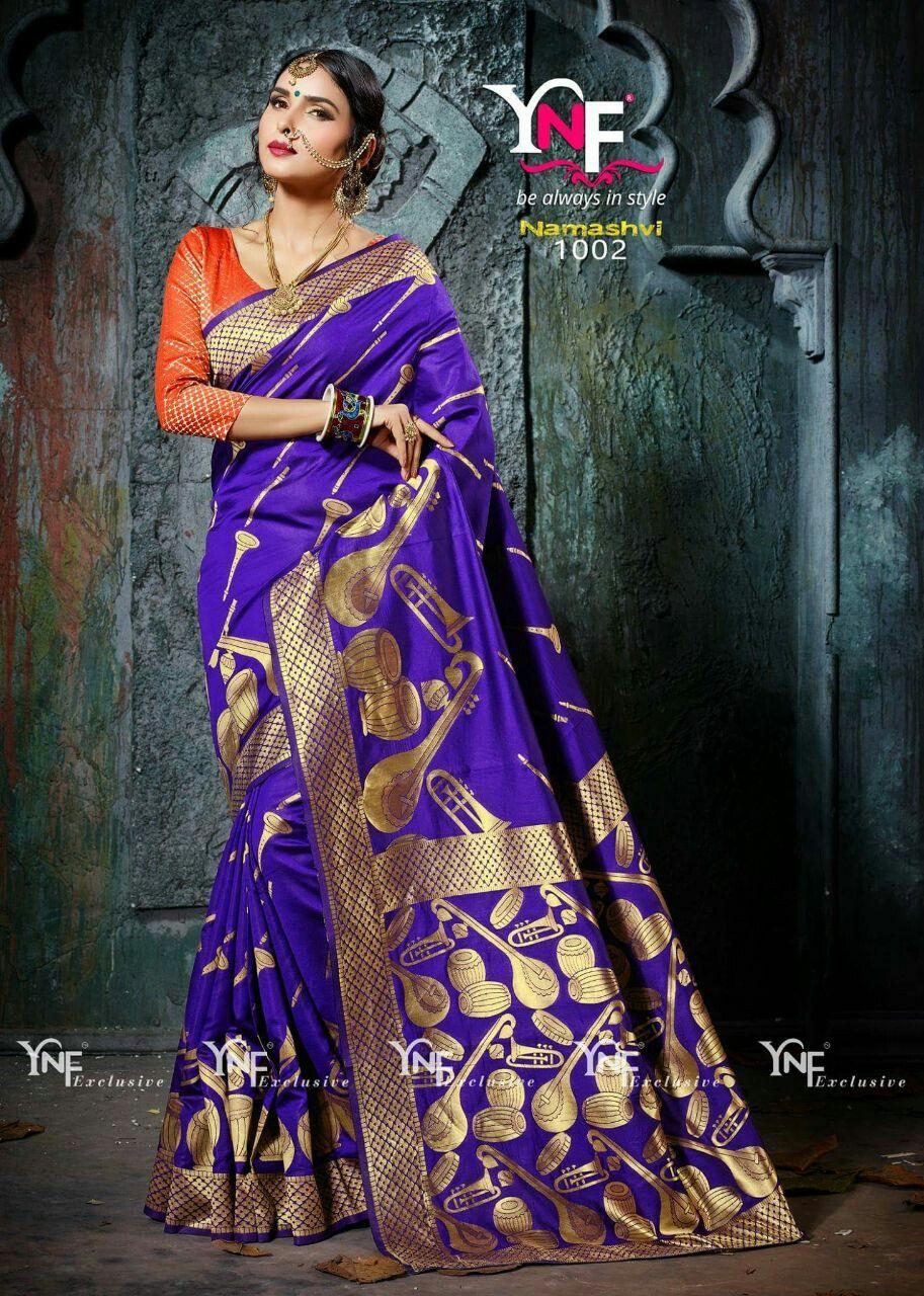 Saree blouse design for cotton saree purple cotton silk designer saree  cotton silk sarees  pinterest