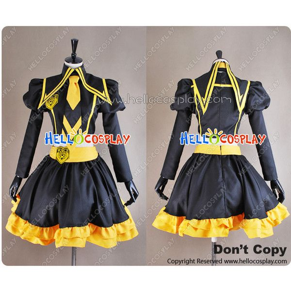 Vocaloid Love Philosophia Cosplay Kagamine Len Costume ❤ liked on Polyvore  featuring costumes, cosplay halloween