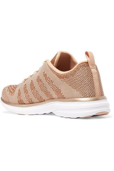 Techloom Pro Metallic Mesh Sneakers - Rose gold Athletic Propulsion Labs