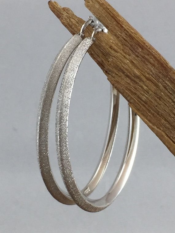 These Are Stunning Authentic Vintage Charles Garnier Large Sterling Silver Hoop Earrings The Interior Features A Beautiful Carinated Or V Shaped