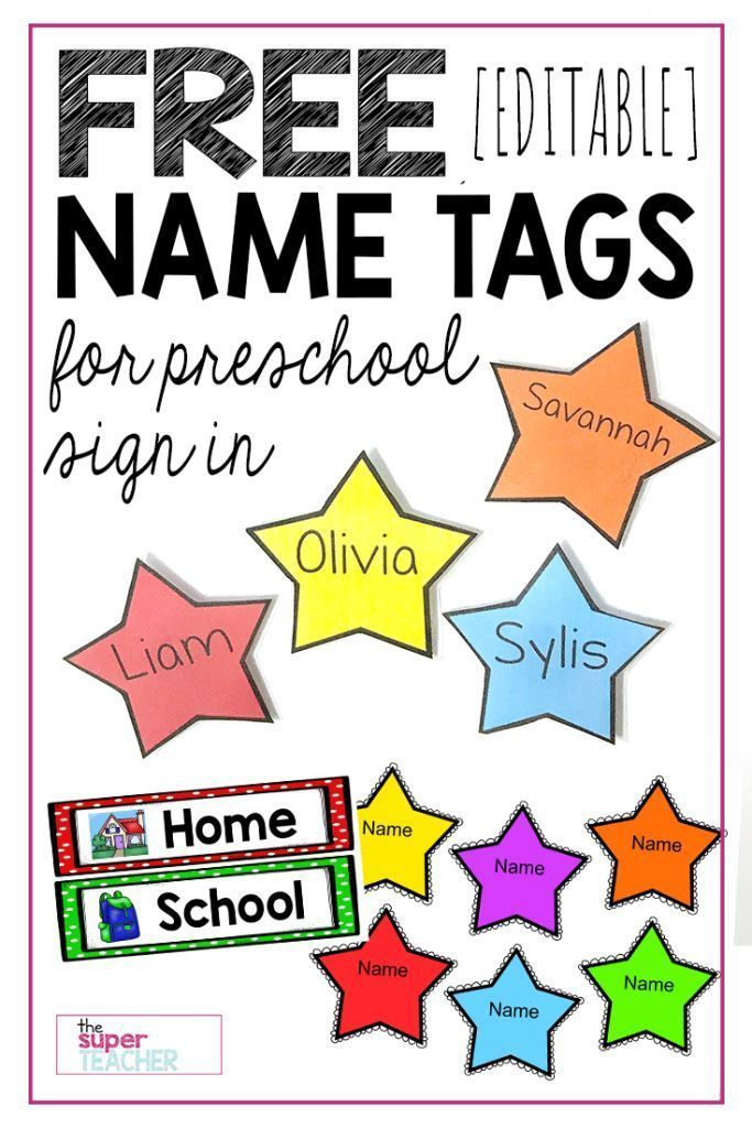 Free Editable Star Name Tags Nursery School Pinterest Clroom Preschool And Labels