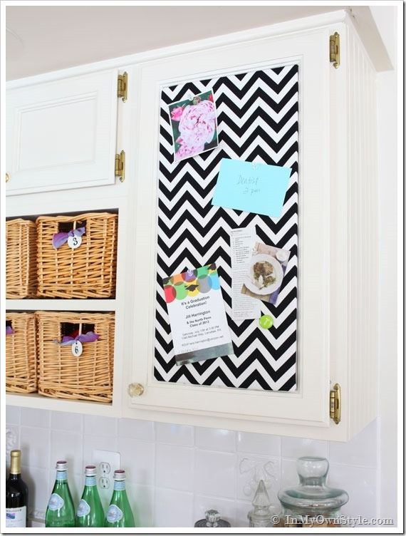 One Yard Decor Inset Kitchen Cabinet Memo Board Memo Board Diy