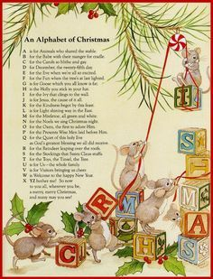 christmas alphabet words - Google Search | OCD - Obsessive ...