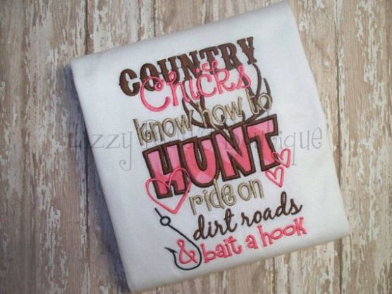 Photo of Country Chick Applique shirt- Free 4 Boutique Bow With Purchase-Camo Girl- Hunti…