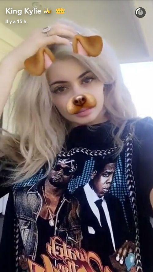 Resultado de imagen para kylie jenner snapchat perro