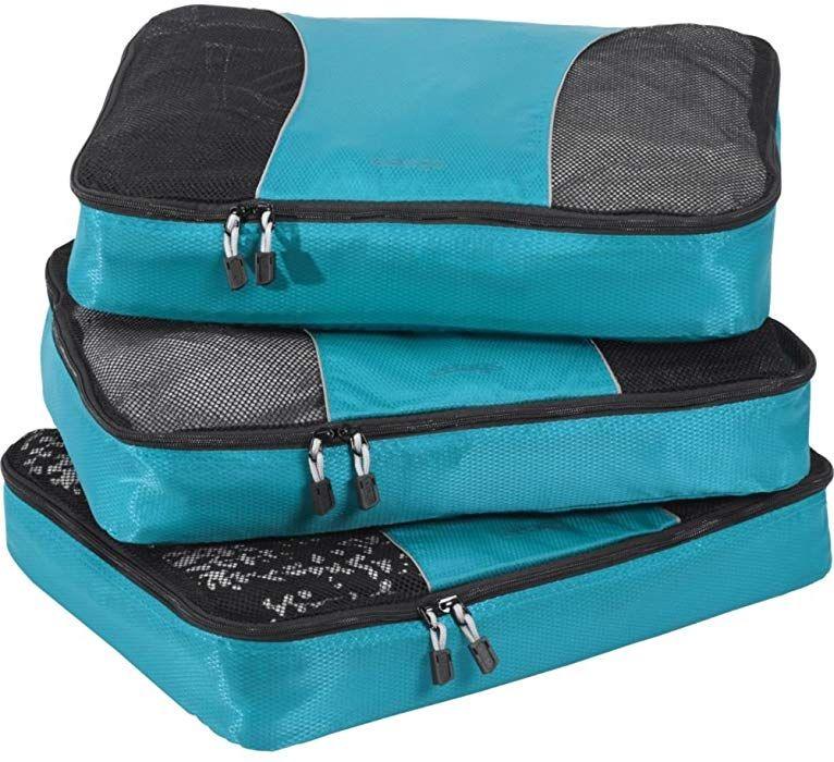 5bb08670277 Amazon.com   eBags Large Packing Cubes for Travel - 3pc Set - (Aquamarine