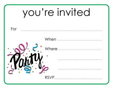 you are invited invitations | items similar to party you're, Invitation templates