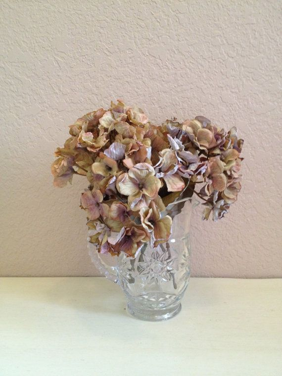 Petite Cut Glass Pitcher Flower Vase By Daphssmallworld On Etsy