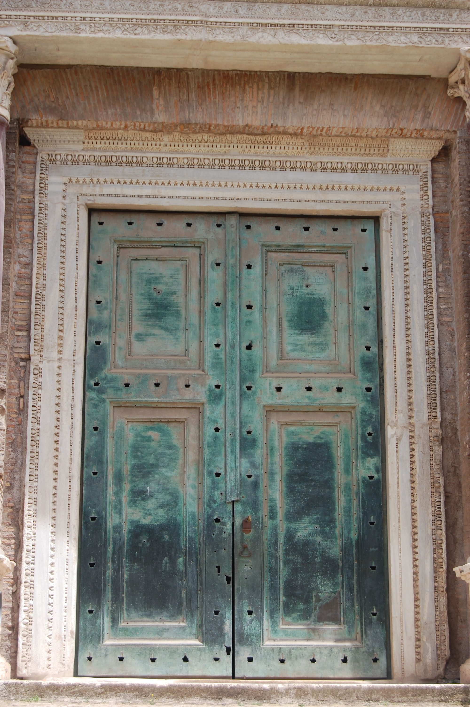 Temple of Divus Romulus The Forum Rome second largest bronze doors (from & Temple of Divus Romulus The Forum Rome second largest bronze ...