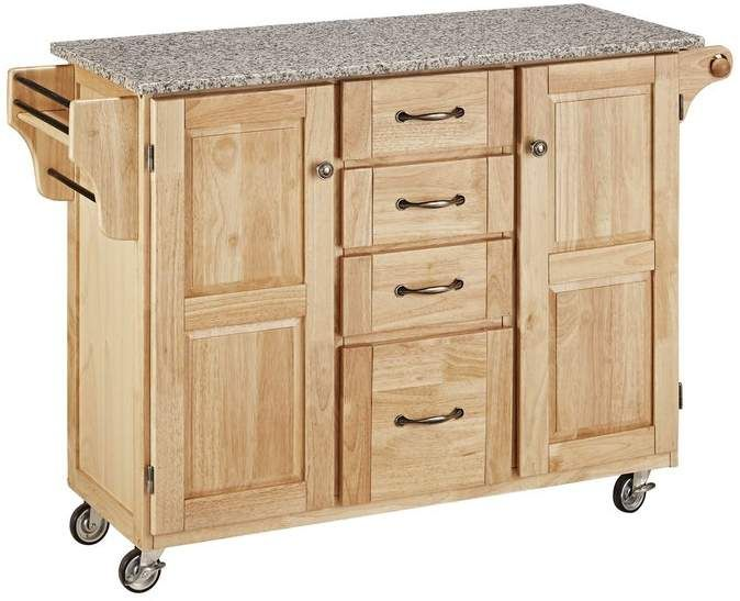 Millwood Pines Legler A Cart Kitchen Island With Granite Top Kitchen Cart Home Styles Adjustable Shelving
