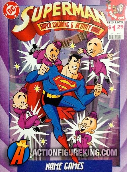 Superman Name Games 1997 Landoll S Coloring Book Superman Coloringbooks Coloringbook Supermananimated Superman Name Superman Coloring Books
