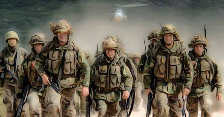Come you masters of war..    ---    Thousands of US Troops Head for Russian Border.