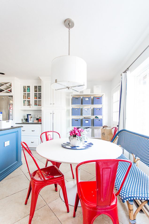 Control The Clutter, Once And For All | Blue Kitchen Island, Organize Kids  And Tulip Table