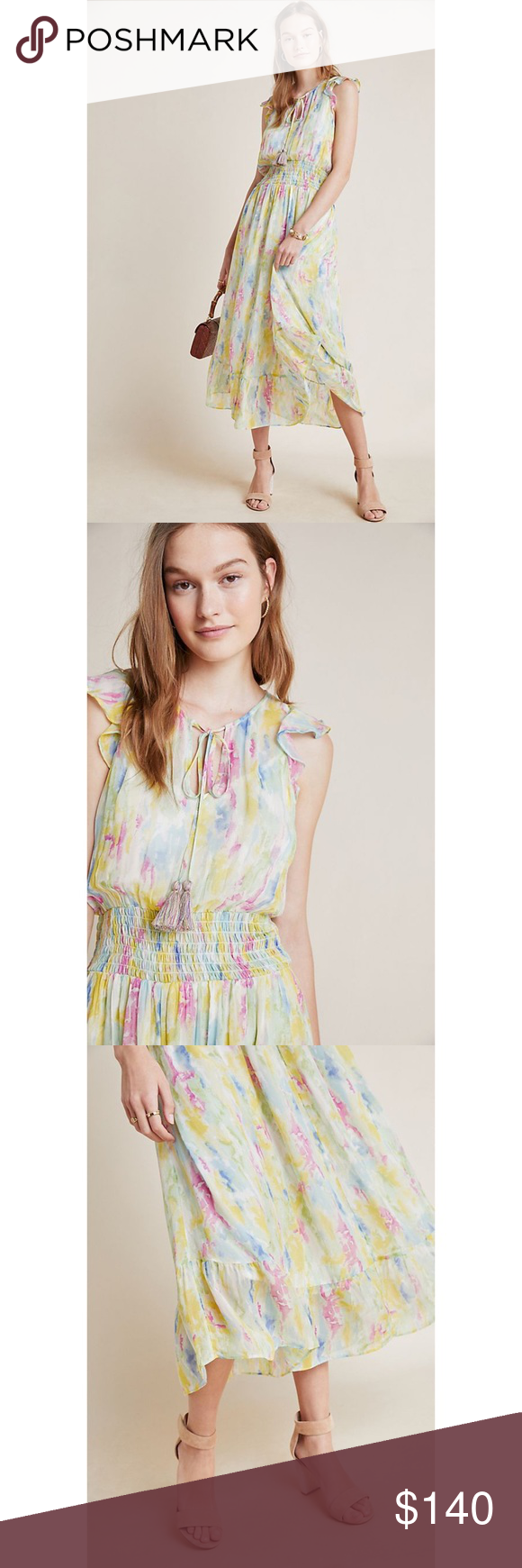 Anthropologie Watercolor Maxi Dress Size 2 Nwt Maxi Dress Dresses Pullover Styling [ 1740 x 580 Pixel ]