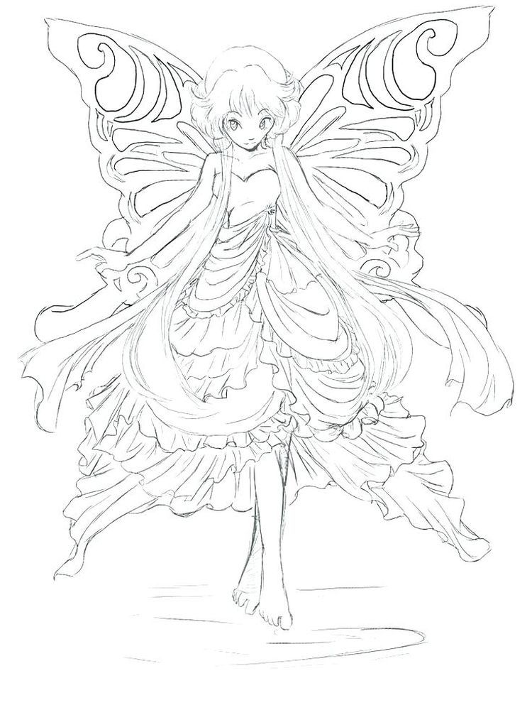 Anime Coloring Page Pictures In 2020 Fairy Coloring Pages Fairy Coloring Coloring Pages