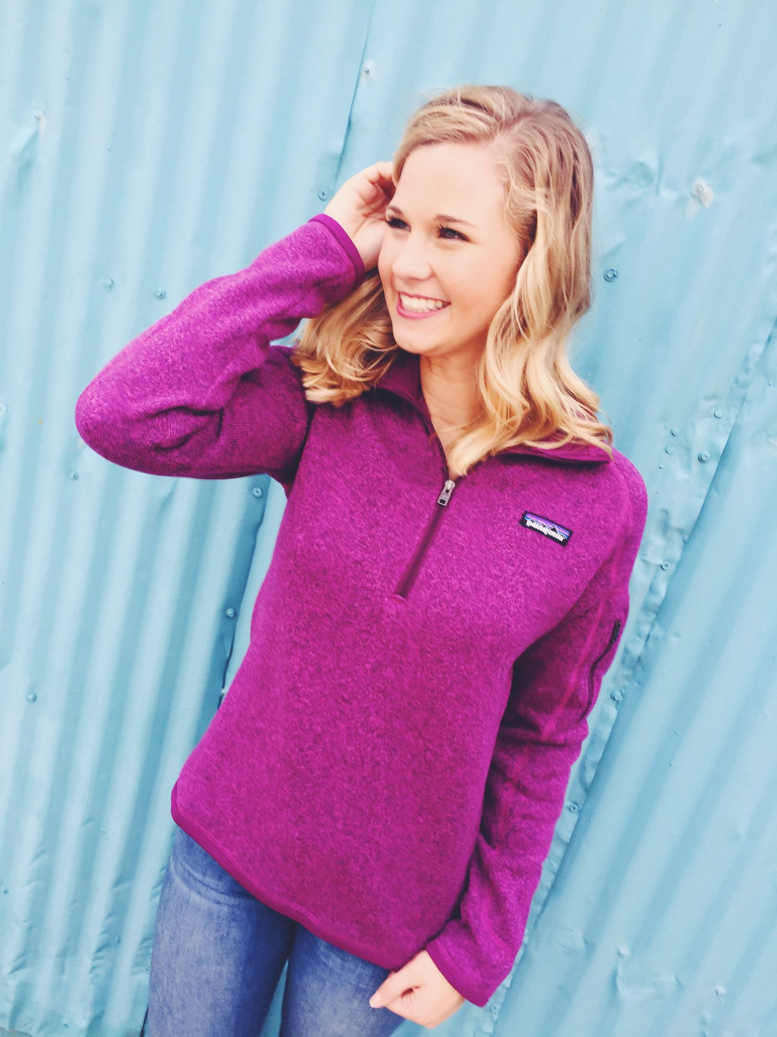9bdd1c4bdf0 Patagonia Women s Better Sweater Quarter Zip Pullover- Violet Red from Shop  Southern Roots TX