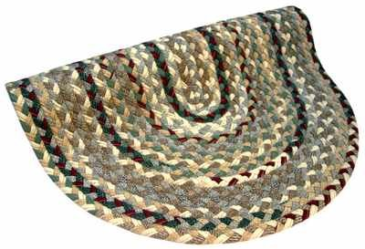 Thorndike Mills Beacon Hill Round Beige Green Area Rug Rug Size