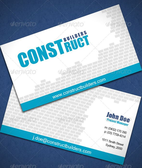 Construction business card construction business cards construction business card reheart Image collections