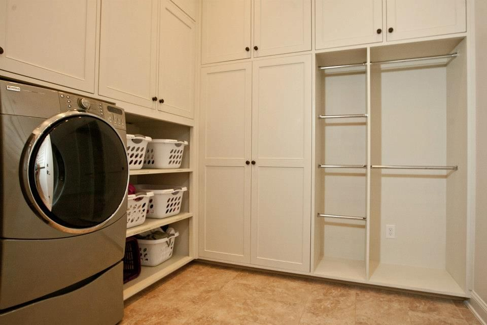 You could laundry forever in this custom designed laundry room!