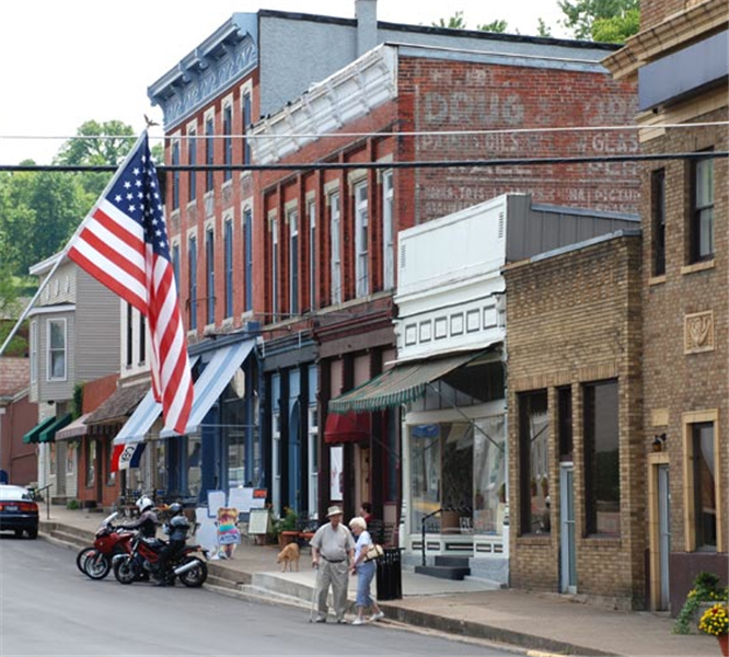 Quaint Little Town In Augusta KY, With Shops, Little