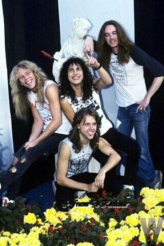 Cliff Burton Kirk Hammett Lars Ulrich James Hetfield Metallica Metallica Band Metallica James Hetfield