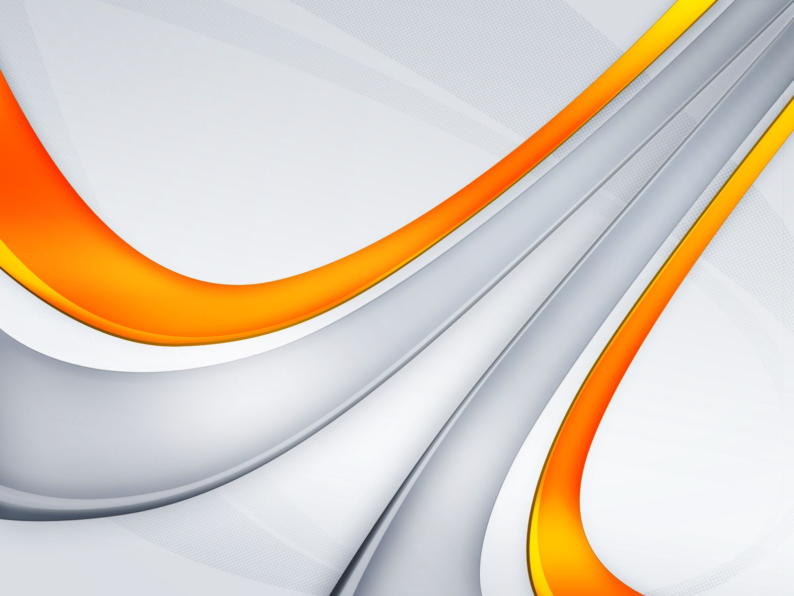 Amazing White Background With The Addition Of A Curved Line Orange
