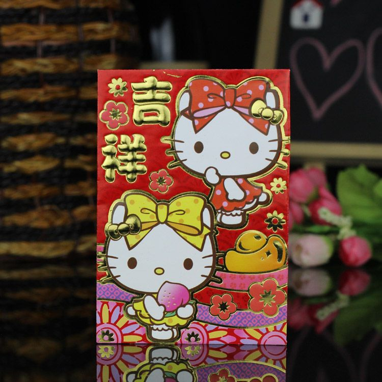 traditional chinese wedding theme hello kitty 2016 chinese new year red packet envelope packets