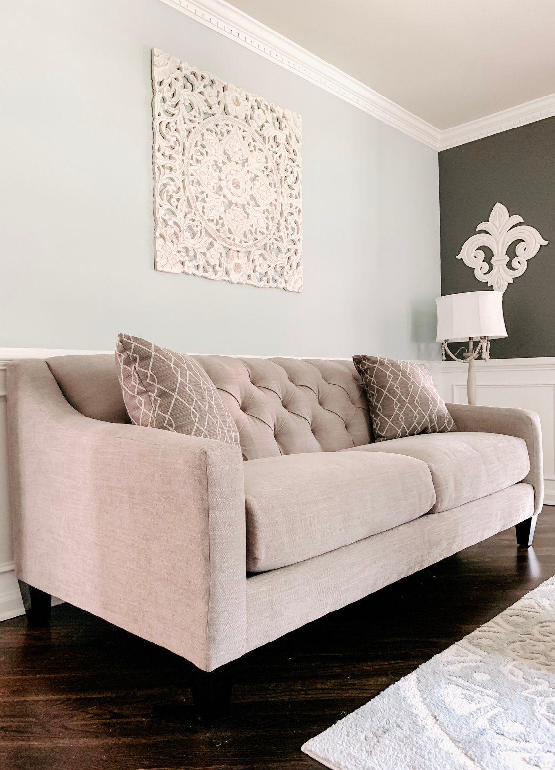 Densmore Sofa Light Grey Upholstery Sofa Neutral Living Room