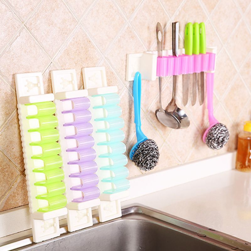 1pc Candy Color Multifunctional Debris Storage Rack Kitchen Wall Hanging  Hooks Creative Bathroom Wall Hooks Office Door Hook