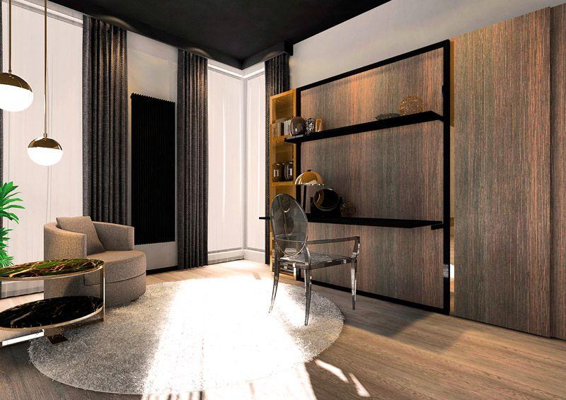 Smartbed V Desk Shelf To łóżko Chowane W Szafie Z Biurkiem